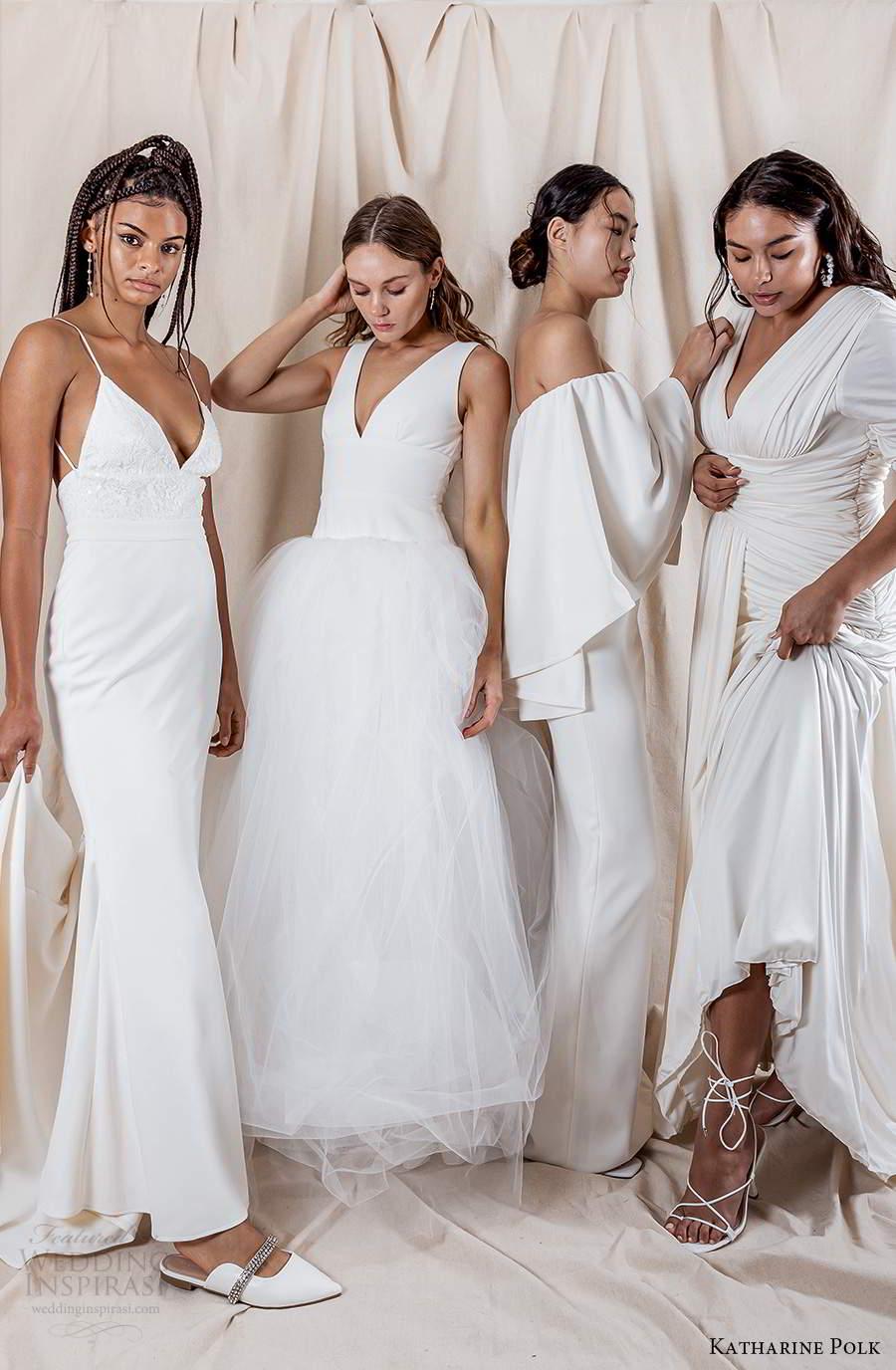 katharine polk 2021 bridal sleeveless strapless clean minimalist wedding dresses (0) mv