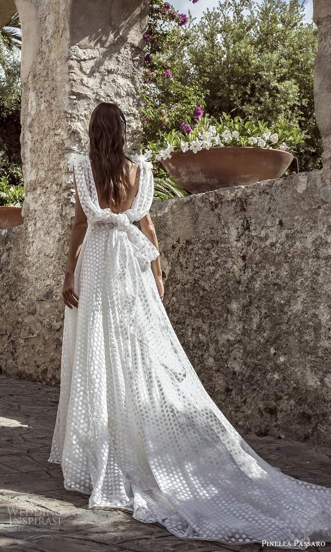 pinella passaro 2021 bridal sleeveless fully embellished a line ball gown wedding dress cowl back chapel train (25) mv