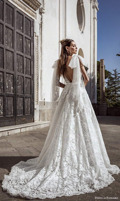 pinella passaro 2021 bridal sleeveless straps plunging v neckline fully embellished a line ball gown wedding dress chapel train (9) bv
