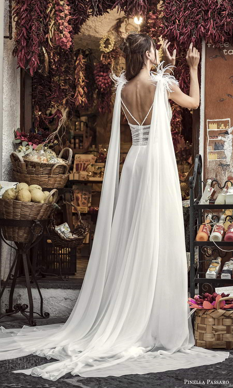 pinella passaro 2021 bridal sleeveless straps surplice v neckline embellished bodice clean skirt a line wedding dress chapel train (7) bv