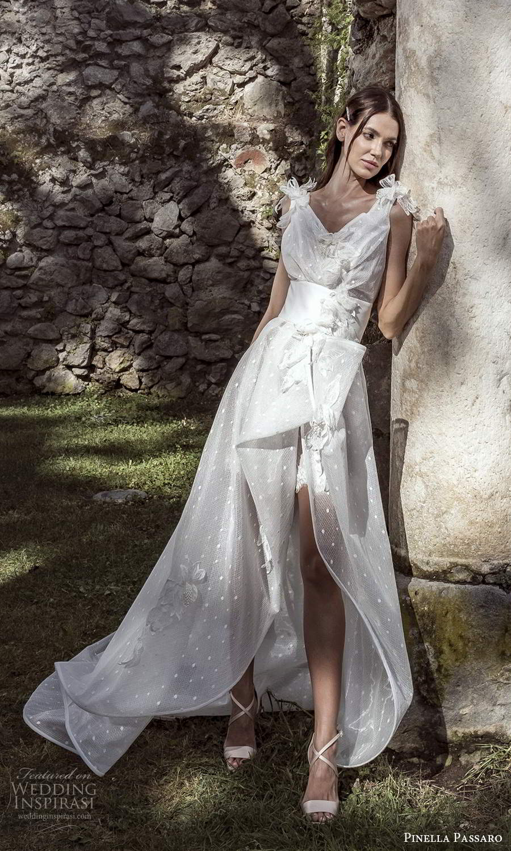 pinella passaro 2021 bridal sleeveless straps v neckline fully embellished a line ball gown wedding dress slit skirt chapel train (24) mv