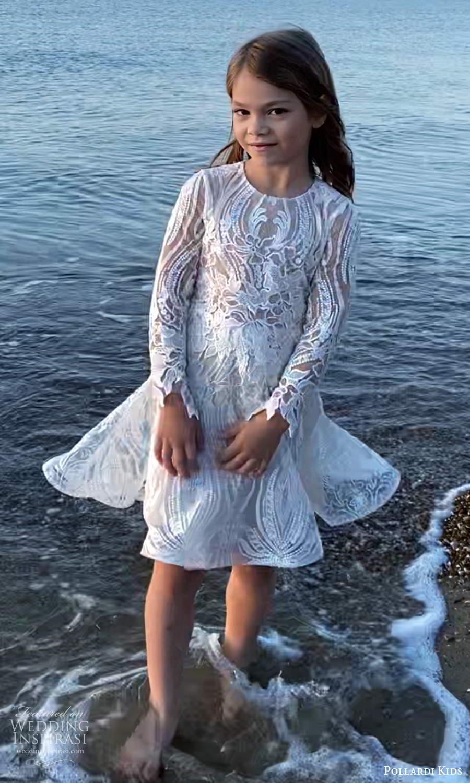 pollardi kids 2021 childrens long sleeve jewel neckline fully embellished a line short flower girl dress (23) mv