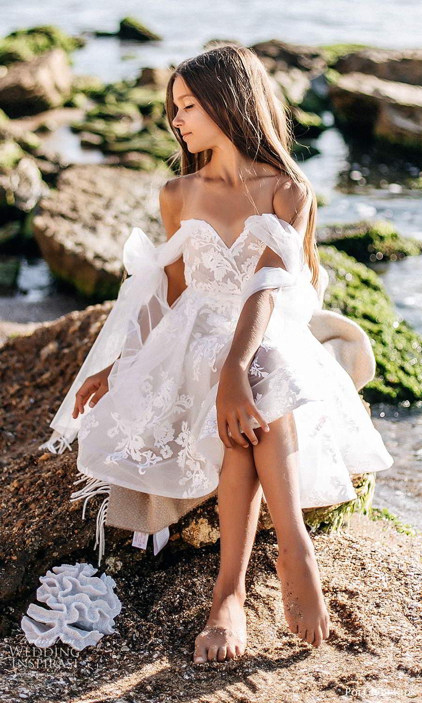 pollardi kids 2021 childrens off shoulder straps sweetheart neckline fully embellished short flower girl dress (6) mv