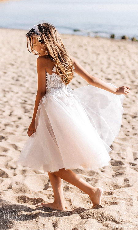 pollardi kids 2021 childrens sleeveless illusion straps semi sweetheart neckline embellished bodice a line short flower girl dress (9) bv