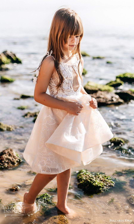 pollardi kids 2021 childrens sleeveless straps bneckline embellished bodice short flower girl dress (8) mv