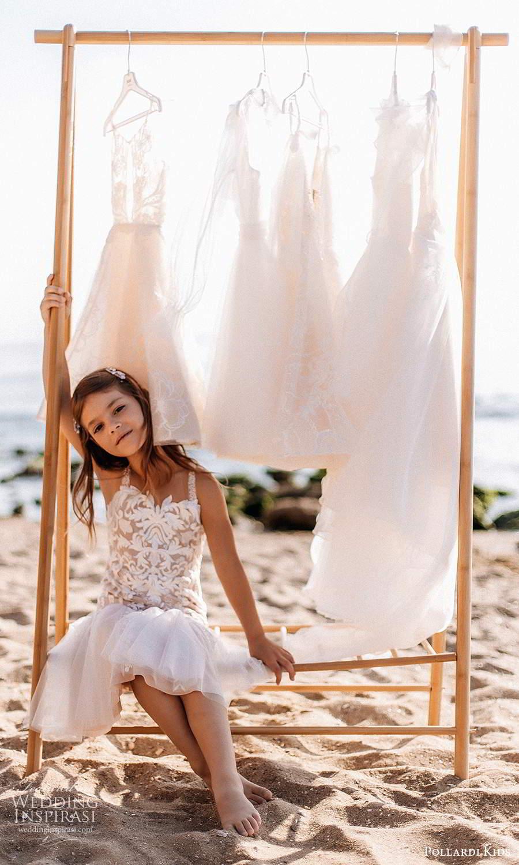 pollardi kids 2021 childrens sleeveless straps sweetheart neckline fully embellished tea length flower girl dress blush (17) fv