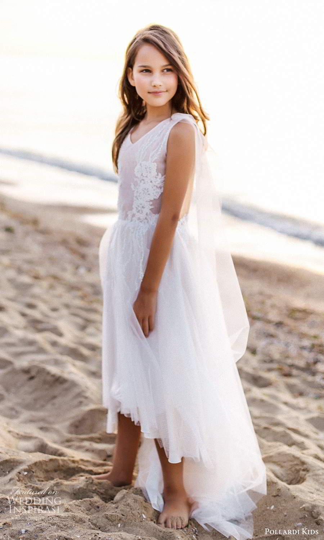pollardi kids 2021 childrens sleeveless straps v neckline fully embellished short flower girl dress (7) mv