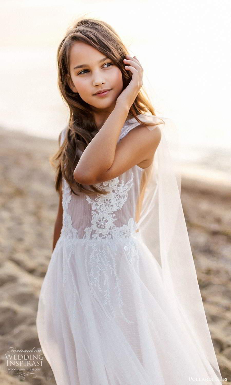 pollardi kids 2021 childrens sleeveless straps v neckline fully embellished short flower girl dress (7) zv