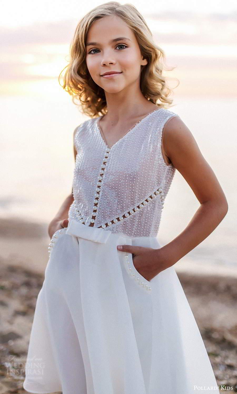 pollardi kids 2021 childrens sleeveless thick straps v neckline embellished bodice flower girl dress (4) zv