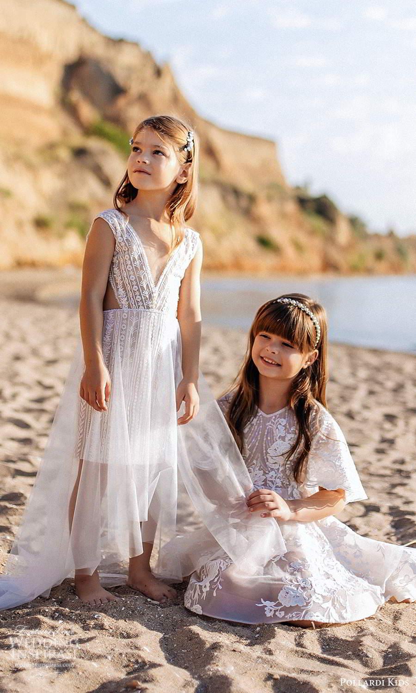 pollardi kids 2021 childrens sleeveless v neckline a line short flower girl dresses (2) mv
