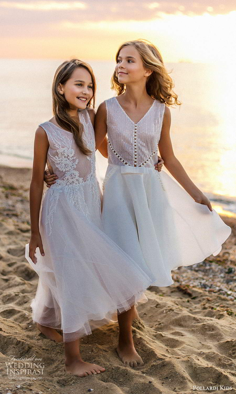 pollardi kids 2021 childrens sleeveless v neckline fully embellished short tea length flower girl dresses (21) mv