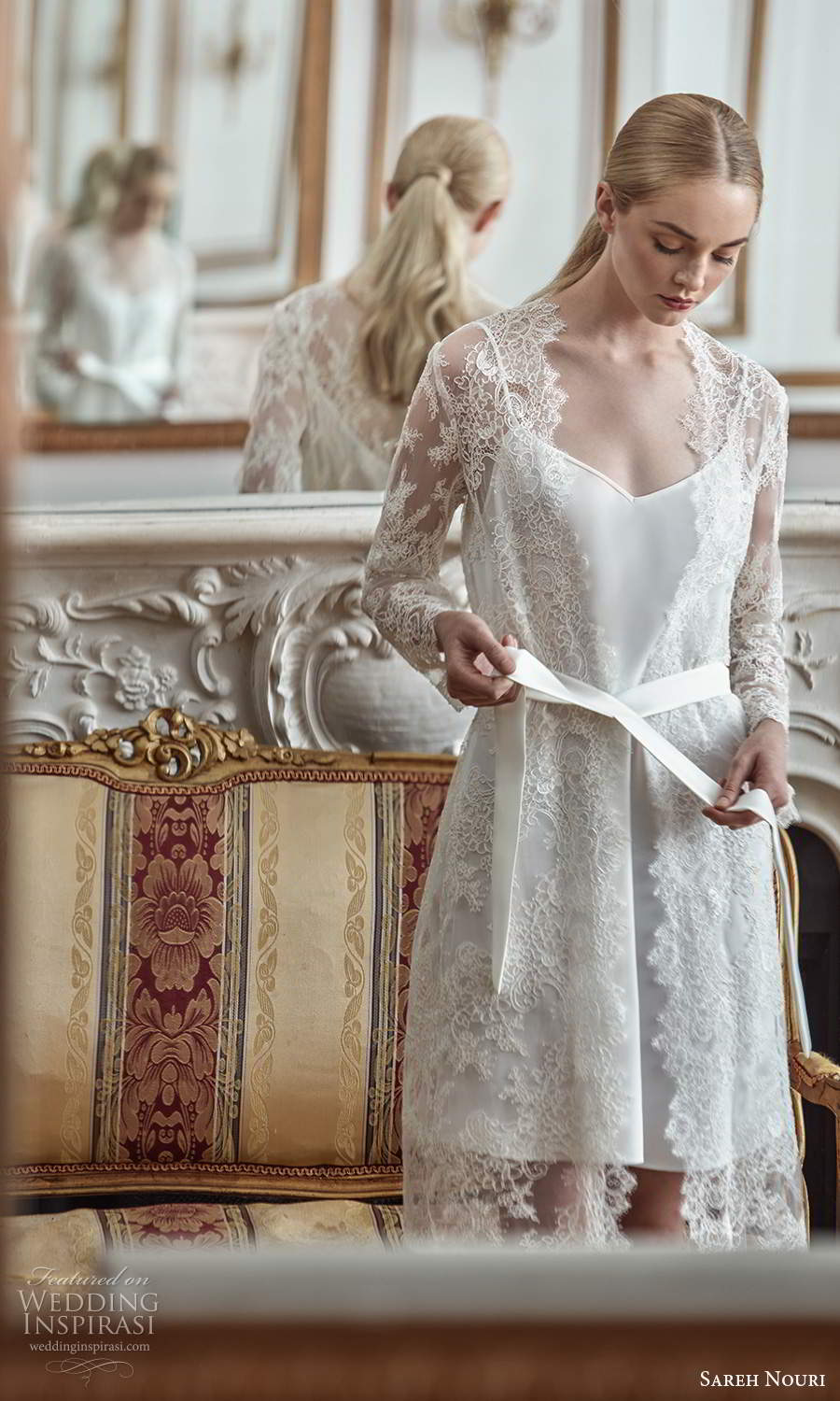 sareh nouri 2021 bridal robes long sleeve collar fully embellished lace robe (4) zv
