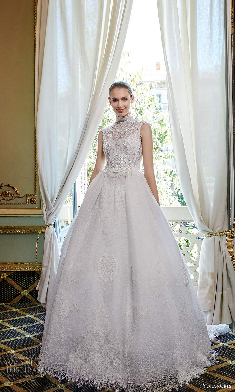 yolancris 2020 bridal couture sleeveless high neckline fully embellished a line ball gown wedding dress chapel train (9) mv