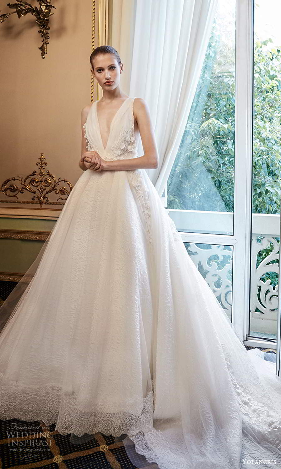 yolancris 2020 bridal couture sleeveless straps plunging v neckline embellished bodice a line ball gown wedding dress cathedral htrain (19) mv