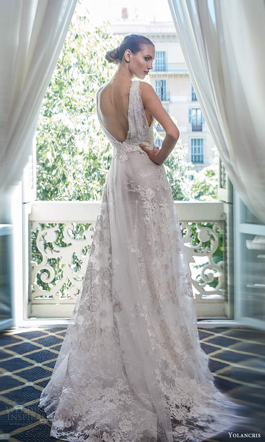 yolancris 2020 bridal couture sleeveless straps plunging v neckline fully embellished a line ball gown wedding dress chapel train scoop back (16) bv