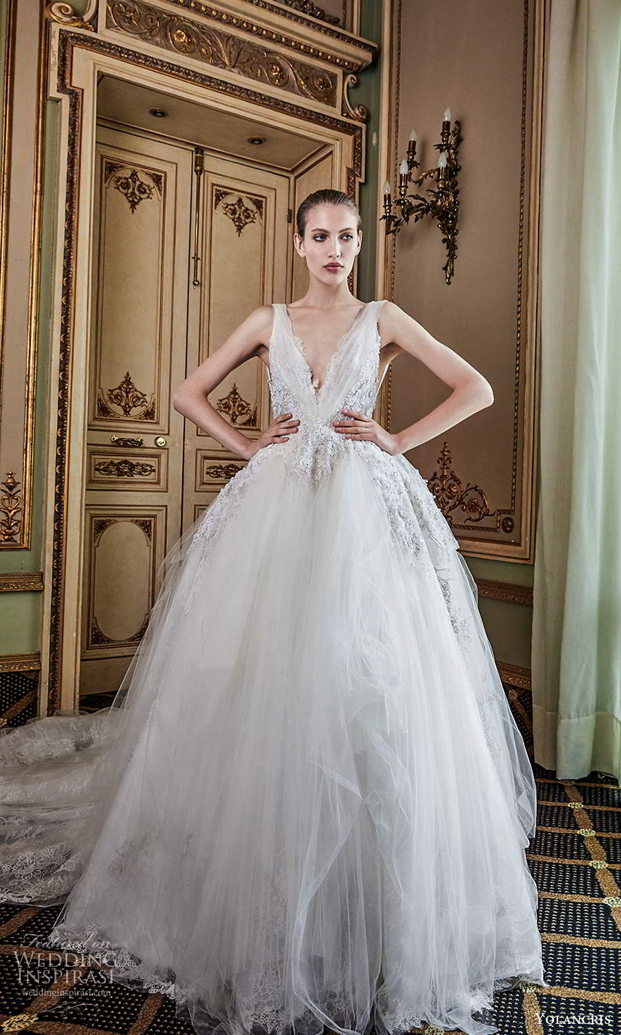 yolancris 2020 bridal couture sleeveless straps v neckline fully embellished a line ball gown wedding dress cathedral train (13) mv
