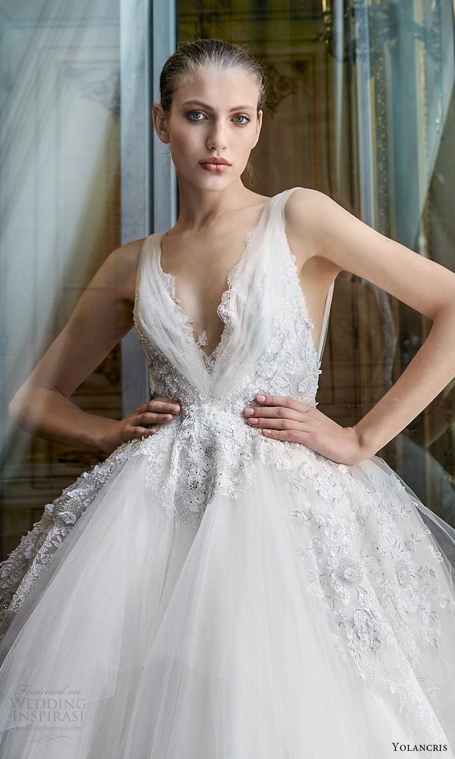 yolancris 2020 bridal couture sleeveless straps v neckline fully embellished a line ball gown wedding dress cathedral train (13) zv