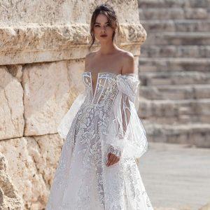 julie vino 2021 bridal collection featured on wedding inspirasi thumbnail