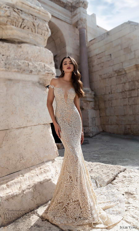 julie vino 2021 bridal off shoulder straps plunging sweetheart neckline fully embellished sheath wedding dress chapel train (2) mv
