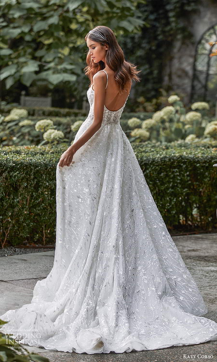 katy corso 2021 bridal sleeveless thin straps scoop neckline fully embellished a line ball gown wedding dress chapel train (9) bv