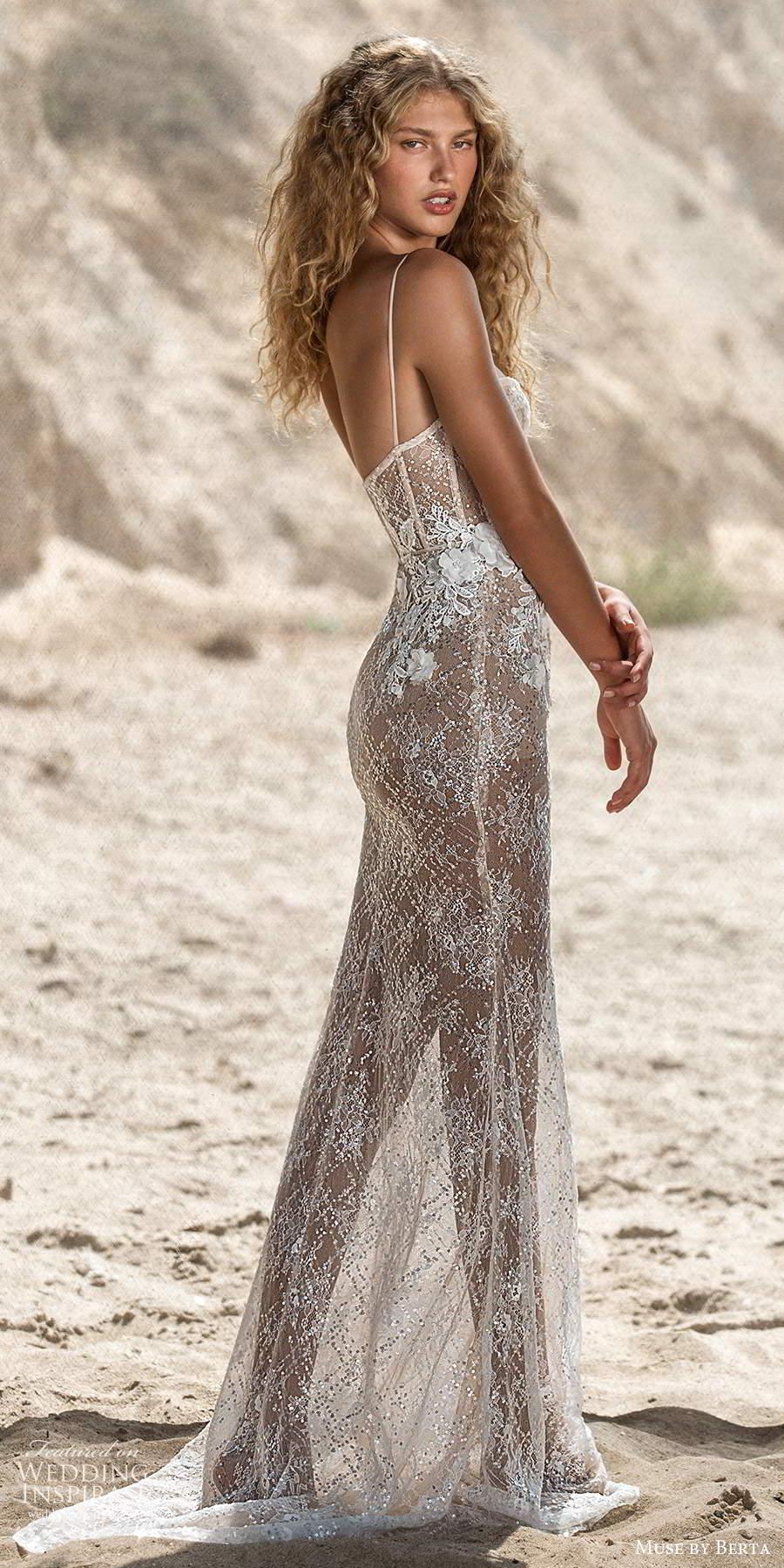 muse by berta fall 2021 bridal sleeveless thin straps semi sweetheart neckline fully embellished sheer sheath wedding dress sweep train (3) bv
