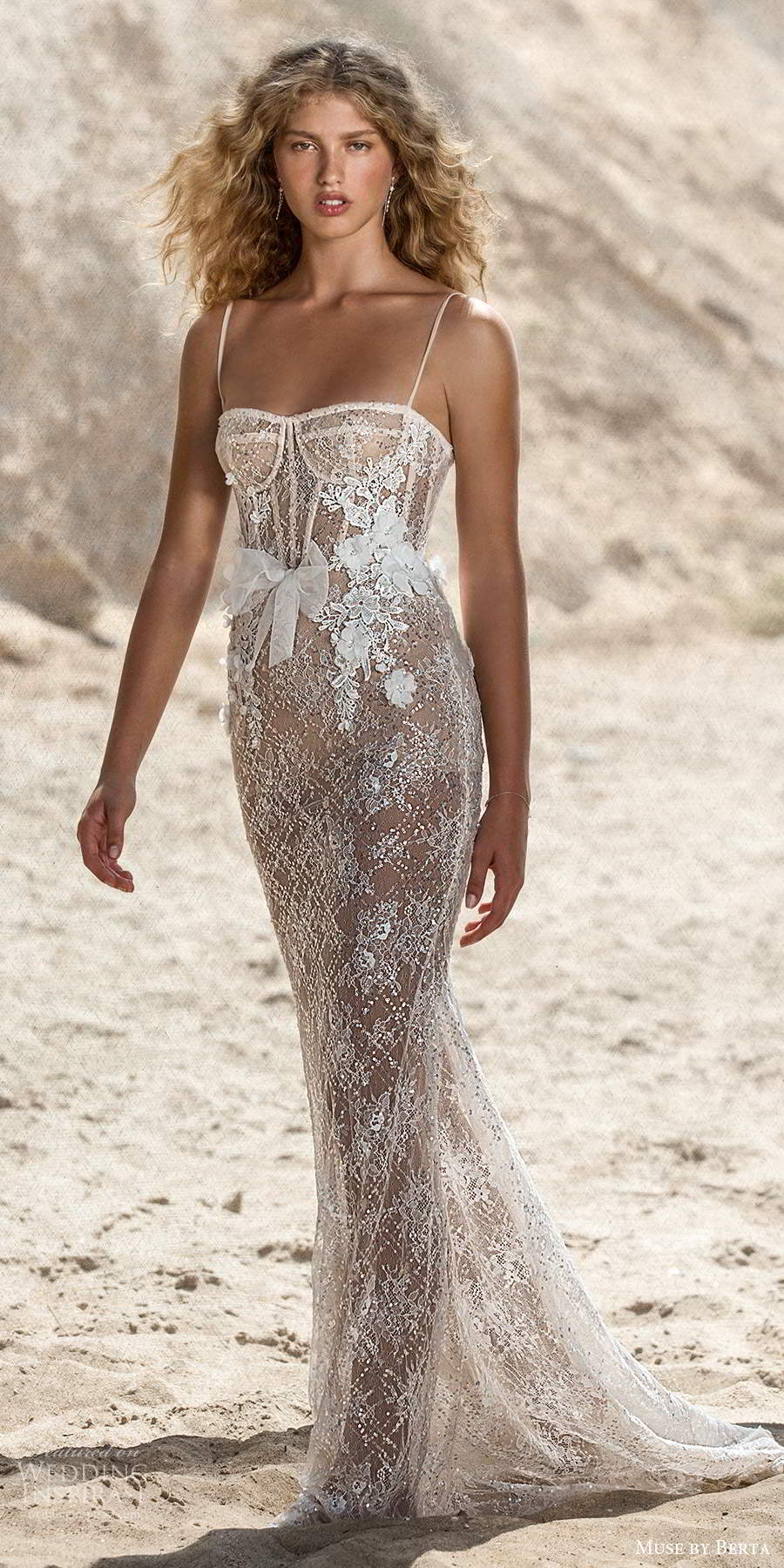 muse by berta fall 2021 bridal sleeveless thin straps semi sweetheart neckline fully embellished sheer sheath wedding dress sweep train (3) mv