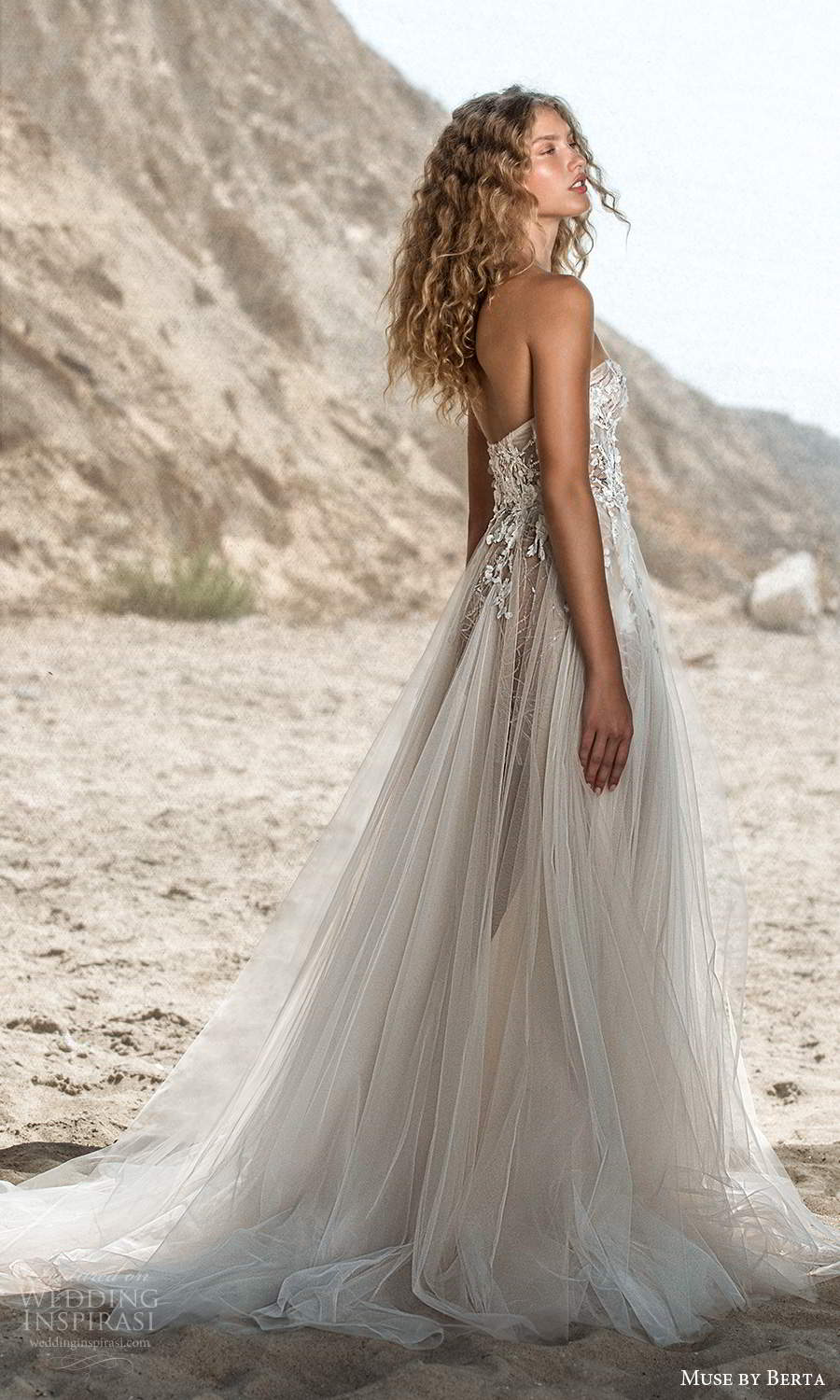 muse by berta fall 2021 bridal strapless sweetheart neckline heavily embellished bodice a line ball gown wedding dress chapel train (4) sv