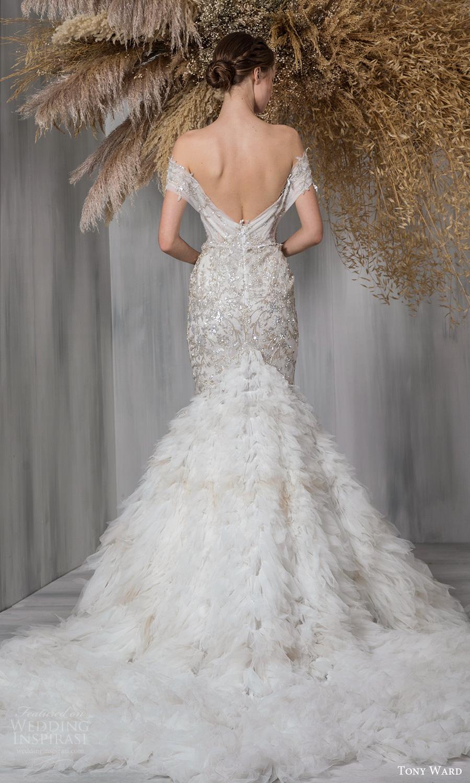 tony ward 2021 bridal off shoulder straps plunging sweetheart neckline fully embellished a line wedding dress chapel train (22) bv