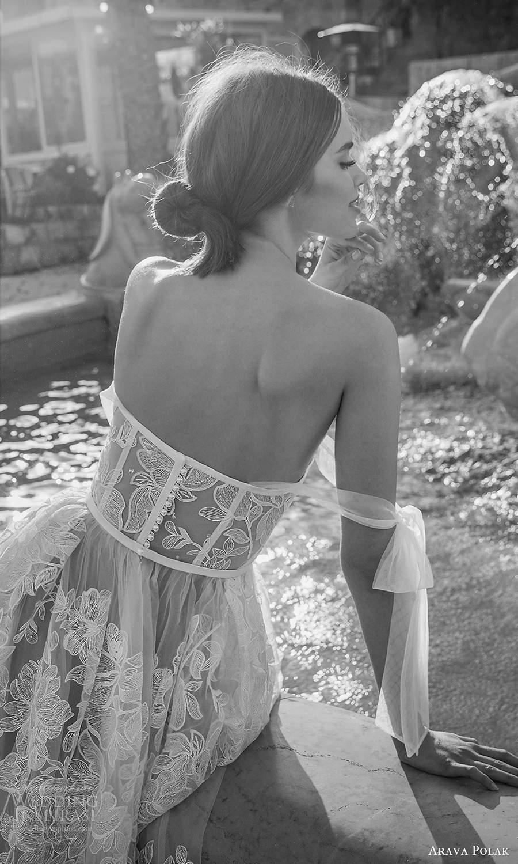 arava polak 2021 bridal off shoulder swag sleeves sweetheart neckline fully embellished a line ball gown wedding dress chapel train sheer back (3) zbv