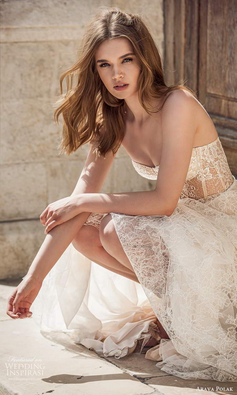 arava polak 2021 bridal sleeveless thin straps semi sweetheart necline fully embellished lace a line ball gown wedding dress chapel train (7) zv