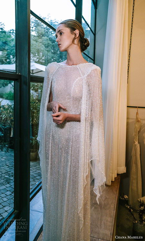 chana marelus 2021 bridal cape sleeves bateau neckline fully embellished kaftan wedding dress sweep train (13) mv