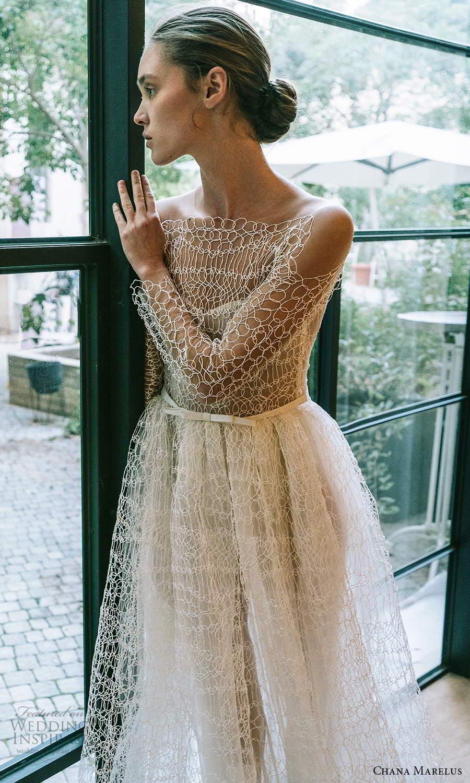 chana marelus 2021 bridal sheer long sleeves bateau neckline fully embellished a line ball gown wedding dress chapel train (6) fv