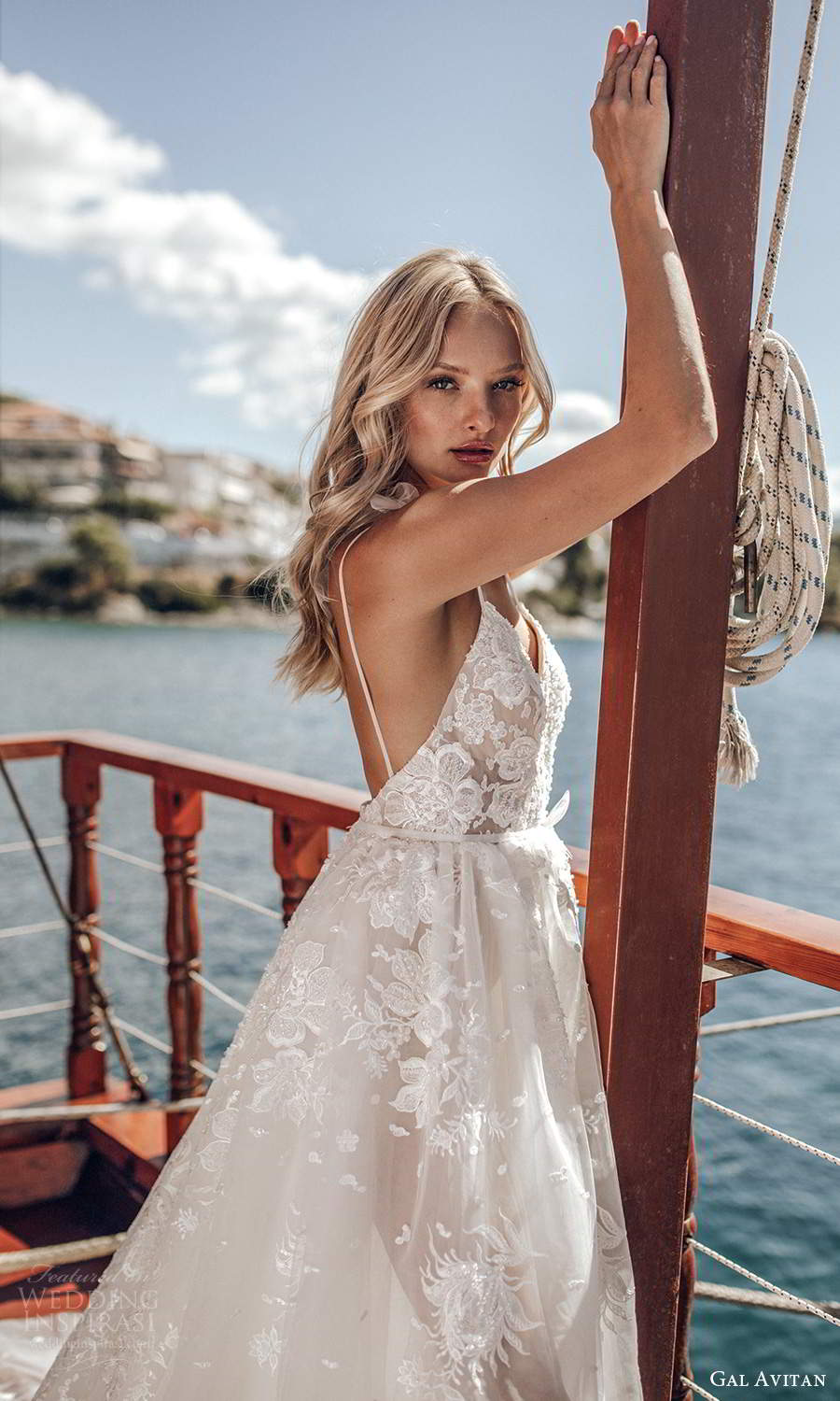 gal avitan 2021 bridal sleeveless straps sweetheart neckline fully embellished lace a line ball gown wedding dress (10) sv