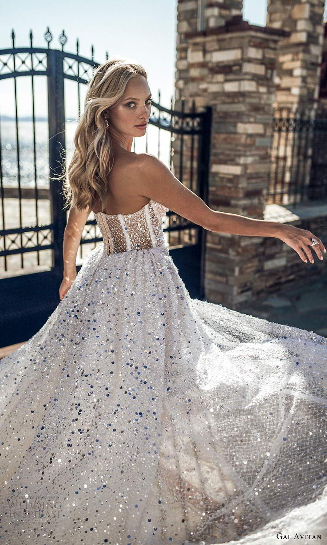 gal avitan 2021 bridal strapless sweetheart neckline fully embellished a line wedding dress chapel train slit skirt (3) zbv