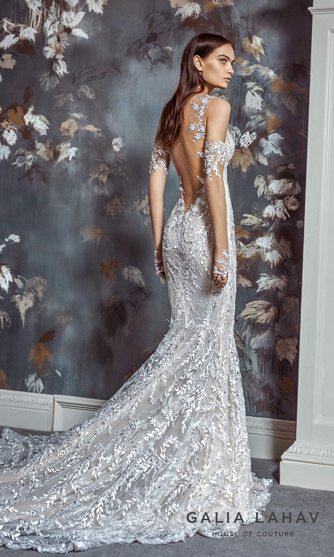 galia lahav fall 2021 bridal couture sleeveless straps sweetheart neckline fully embellished sheath wedding dress chapel train sheer open low back (margot) bv