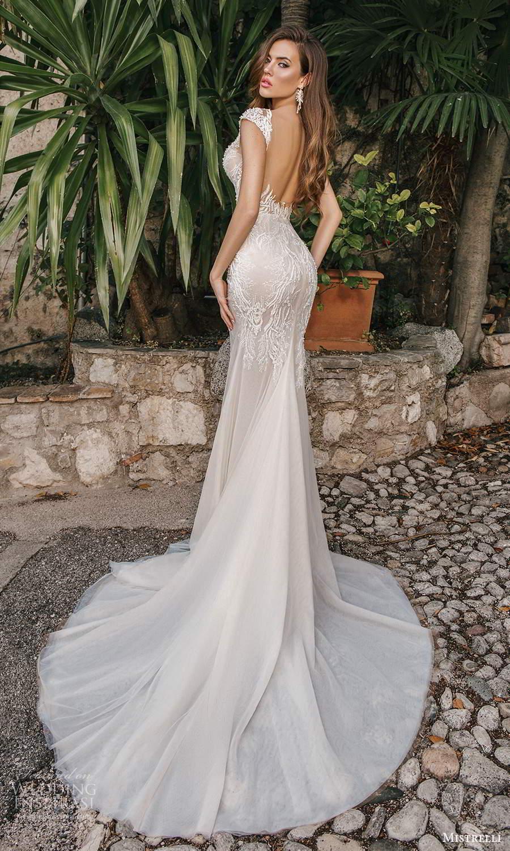 mistrelli 2021 bridal euphoria cap sleeves straps sweetheart neckline embellished bodice mermaid wedding dress chapel train ivory low back (5) bv