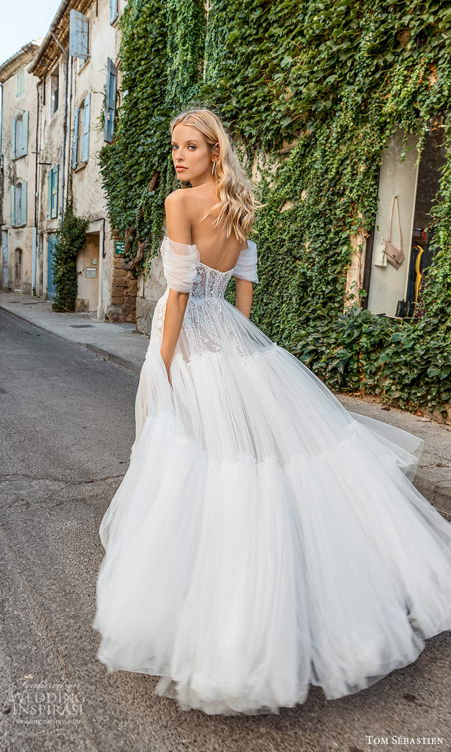 tom sebastien 2021 bridal provence off shoulder straps sweetheart neckline heavily embellished bodice a line ball gown wedding dress (5) bv
