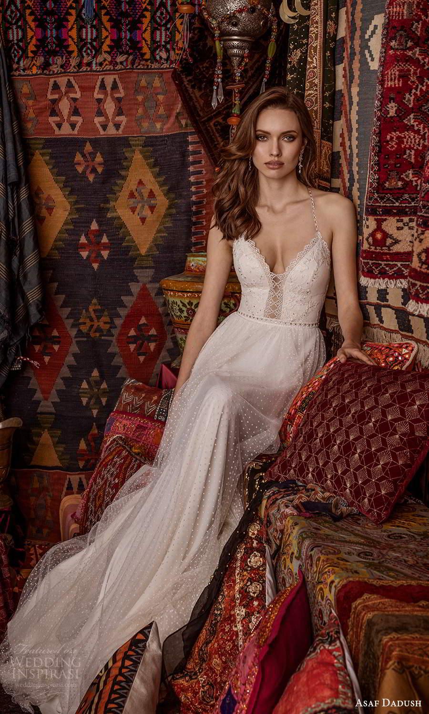 asaf dadush 2021 bridal sleeveless beaded straps sweetheart neckline fully embellished a line wedding dress (13) mv