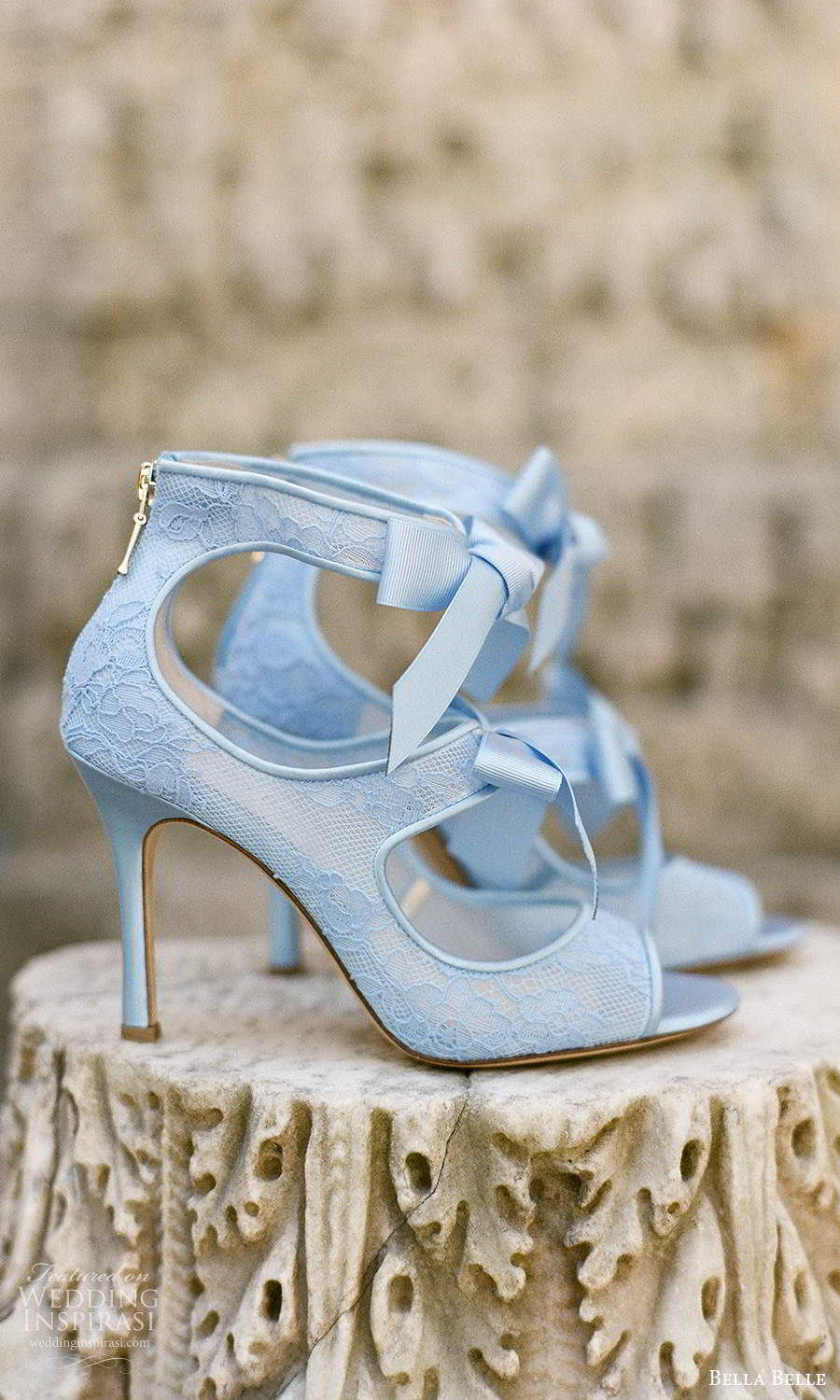 bella belle spring 2021 bridal shoes ankle bow strap peep top high heel pump shoes (11) zv