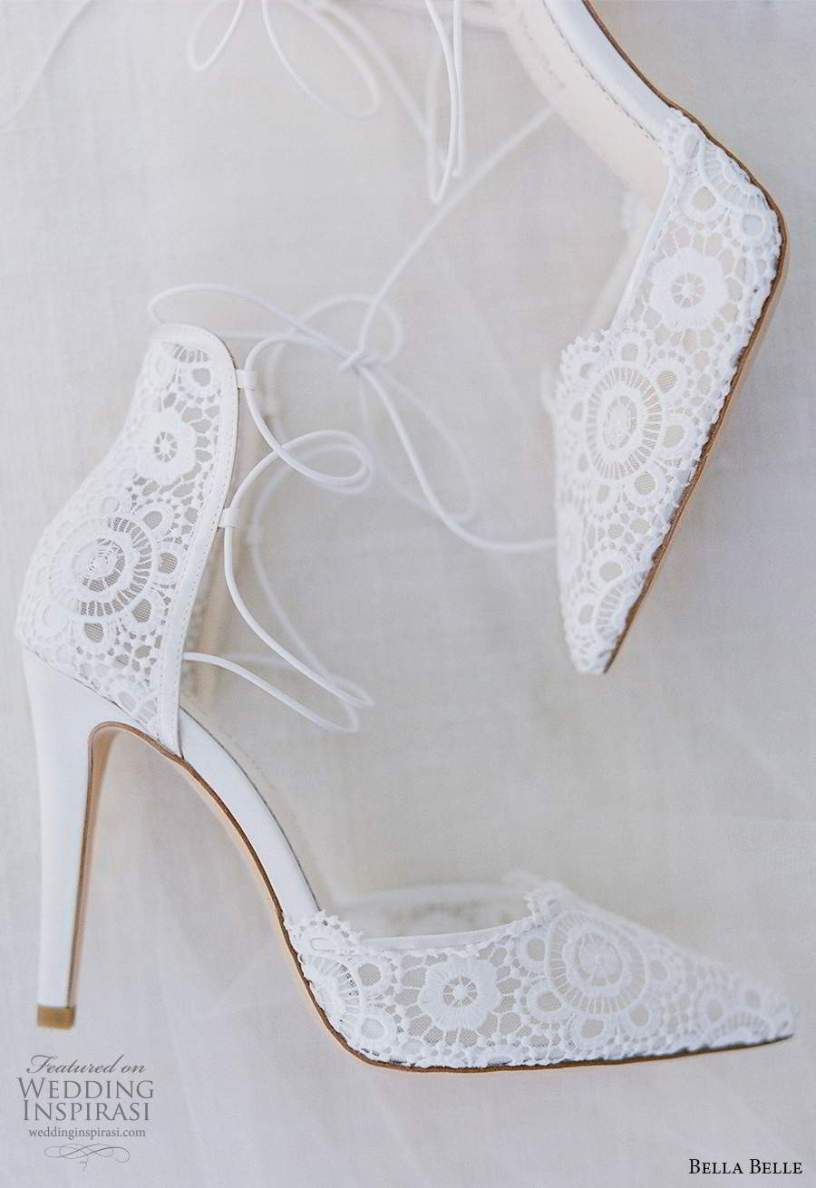 bella belle spring 2021 bridal shoes ankle straps pointy toe high heel shoes (6) sv