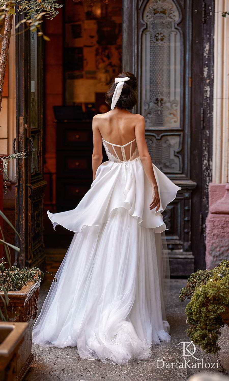daria karlozi 2021 graceful dream bridal strapless crumbcatcher neckline ruched bodice a line ball gown wedding dress (breath of wind) bv