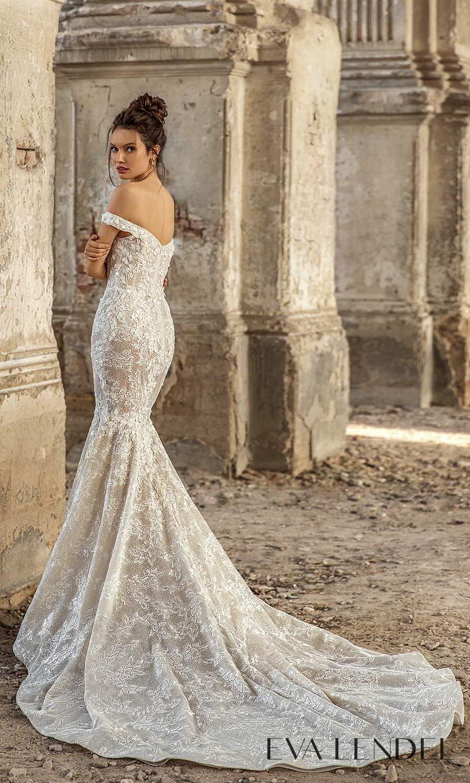 eva lendel 2021 golden hour bridal off shoulder straps sweetheart neckline fully embellished sheath wedding dress chapel train (paola) bv