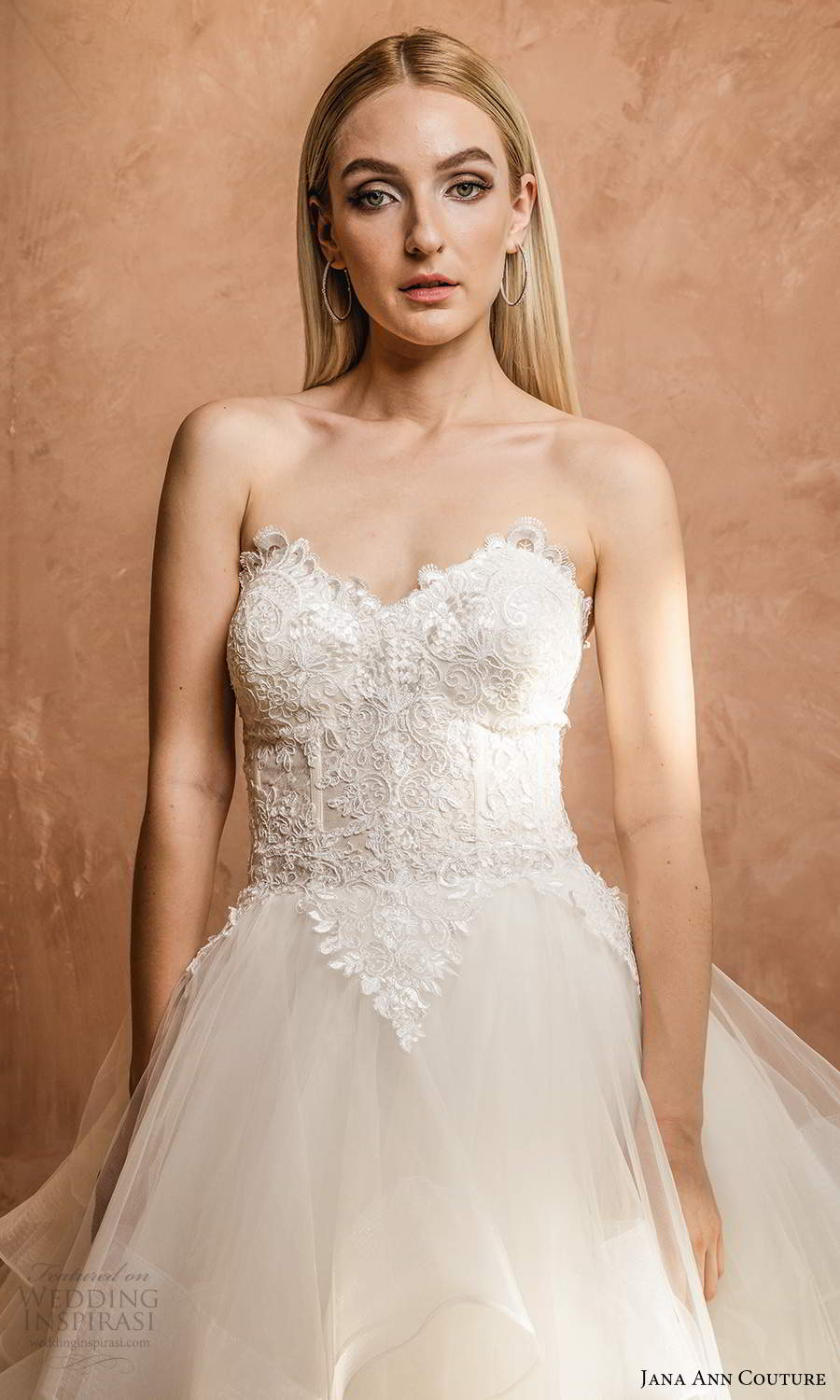 jana ann couture 2021 bridal strapless sweetheart neckline embellished bodice a line ball gown wedding dress chapel train (17) mv