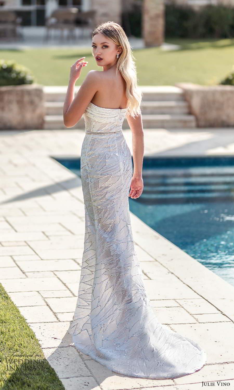 julie vino 2021 romanzo bridal one shoulder strap asymmetric straight across neckline fully embellished sheath wedding dress slit skirt sweep train (6) bv