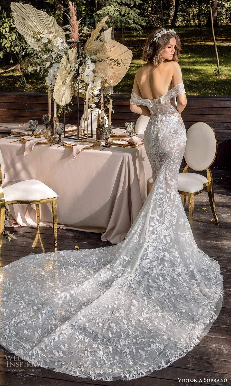 victoria soprano 2022 bridal off shoulder swag straps sweetheart neckline fully embellished sheath mermaid wedding dress chapel train (7) bv