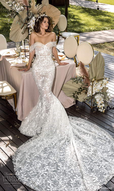 victoria soprano 2022 bridal off shoulder swag straps sweetheart neckline fully embellished sheath mermaid wedding dress chapel train (7) mv
