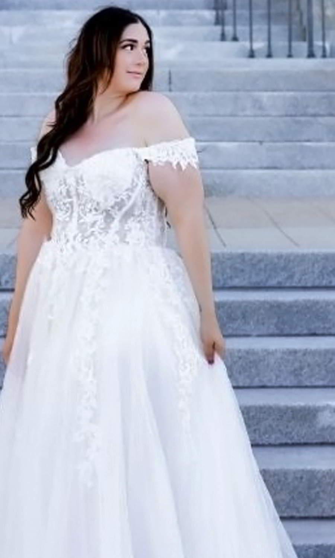 afarose 2021 bridal off shoulder straps sweetheart neckline embellished bodice a line ball gown wedding dress (bliss) sv