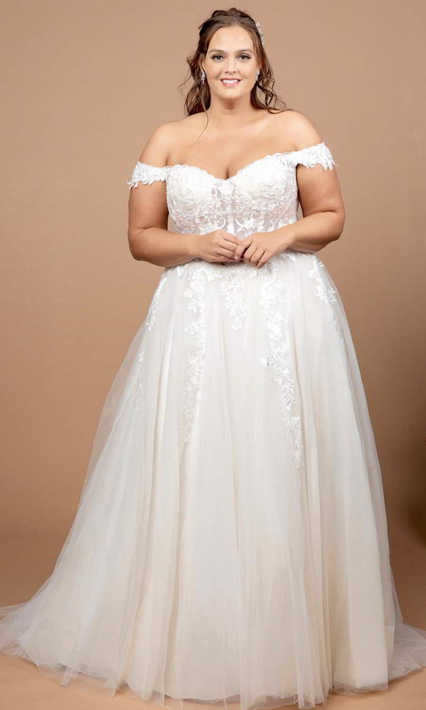 afarose 2021 bridal off shoulder straps sweetheart neckline embellished bodice a line ball gown wedding dress (bliss) mv