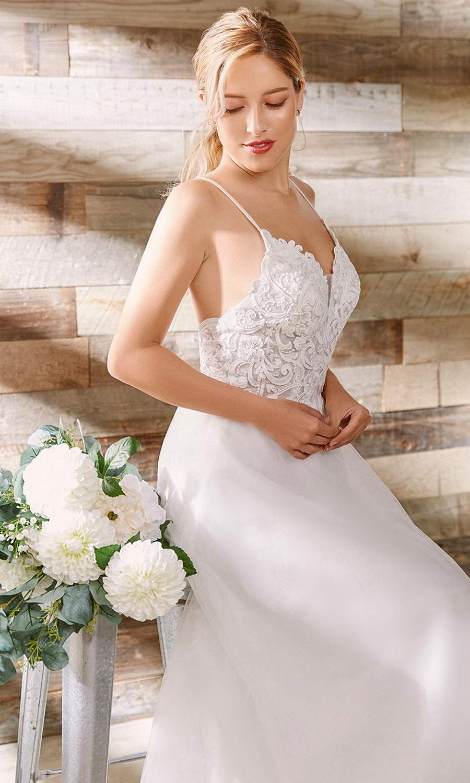 afarose 2021 bridal sleeveless straps sweetheart neckline heavily embellished lace bodice a line ball gown wedding dress (maisie) mv