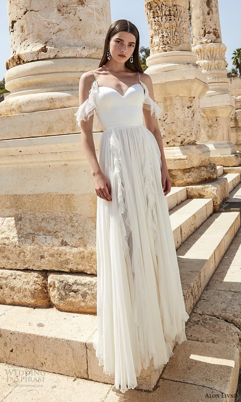 alon livne 2021 bridal off shoulder straps cold shoulder sweetheart neckline clean minimalist a line wedding dress (6) mv